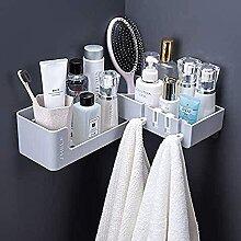 Etagère de salle de bain d'angle Evazory,