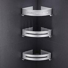 Étagère de salle de bain en aluminium,
