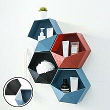 Étagère de salle de bain murale, 4 #, étagère