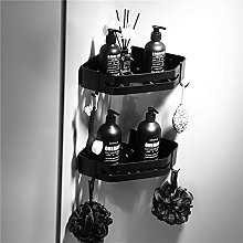 Étagère de salle de bain Noir Aluminium Douche
