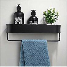 Étagère de salle de bains Noire 30-50cm Longueur