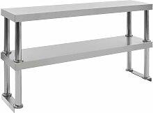 étagère de table de travail 2 niveaux 120x30x65
