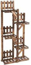 Etagère en bois en 5 niveaux 60x26x130 cm meuble