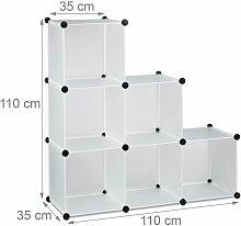 Étagère escalier 6 compartiments meuble