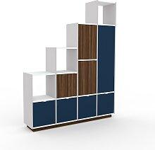 Étagère escalier - Bleu, design, avec porte