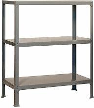 Étagère métallique 3 niveaux KIT FILECLICK PLUS