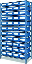 Étagère métallique avec 120 casiers de