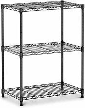 Étagère métallique noire - 60 x 35 x 77 cm -