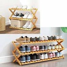 étagère meuble à chaussures bois télescopique