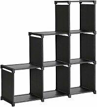 Étagère meuble de rangement escalier 6 casiers