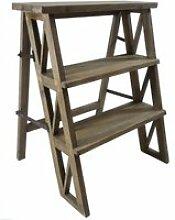 Etagère meuble escalier escabeau pliable porte