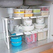 Étagère modulable - Blanc - cuisine salle de