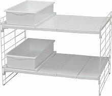 Etagère modulable et extensible 45-70 cm pour