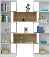 Etagère modulable Panneaux de bois  Blanc, bois