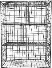 Etagère murale 5 niches  gris