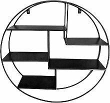 Etagère murale ronde  noir
