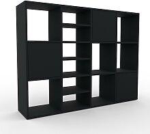 Étagère - Noir, moderne, avec porte Noir - 156 x