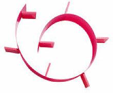 Etagère Popworm / L 320 cm - Kartell rose en