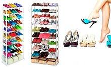 Étagère pour 30 paires de chaussures : x 2