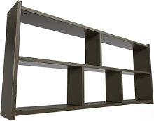 Étagère pour lit mezzanine Largeur 90 Wengé