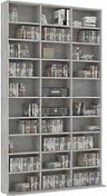 Etagère range cd/dvd 180 cm béton gris marbré