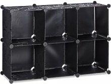 Étagère rangement 6 casiers plastique modulable