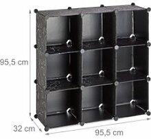 Étagère rangement 9 casiers modulable diy