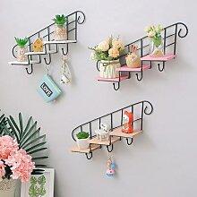 Étagères décoratives en bois fer supports de