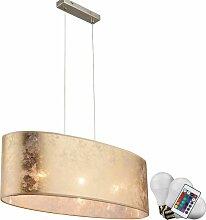 Etc-shop - Abat-jour lampe suspension tissu léger