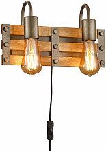Etc-shop - Applique en bois salon éclairage salle