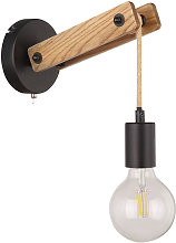 Etc-shop - Applique murale corde de chanvre bois