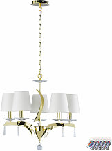 Etc-shop - Cristal lustre salon lustre plafond