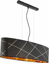Etc-shop - Lampe à suspension abat-jour en or