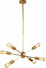 Etc-shop - Lampe à suspension design GOLD Salon
