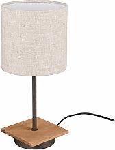 Etc-shop - Lampe de table bois salon lampe textile