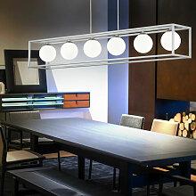 Etc-shop - LED pendule plafonnier boule de verre