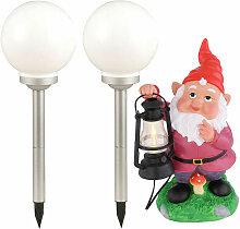 Etc-shop - Lot de 3 LED Lampes Solaires Papillons