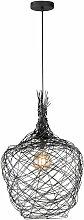 Etc-shop - Pendule plafonnier filament salle à