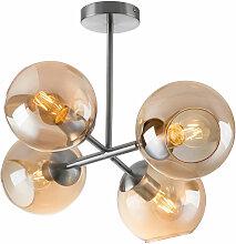 Etc-shop - Plafonnier boule en verre lampe de