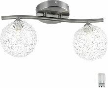 Etc-shop - Plafonnier design boule de verre lampe