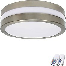 Etc-shop - Plafonnier extérieur LED RVB rond