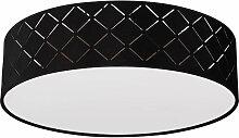 Etc-shop - Plafonnier lampe ronde décor noir die