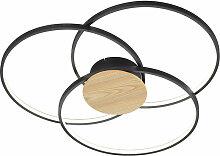 Etc-shop - Plafonnier LED salon spot lampe en bois