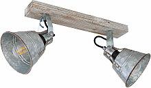Etc-shop - Plafonnier RETRO spot en bois lumière