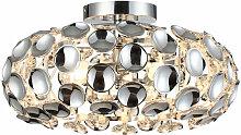 Etc-shop - Plafonnier salon lampe boule chromée
