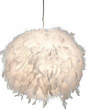 Etc-shop - Plafonnier suspendu plumes de canard