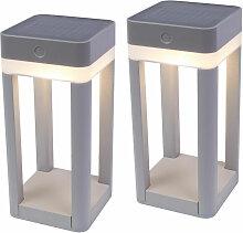 Etc-shop - Set de 2 Lampes Solaires Extérieures