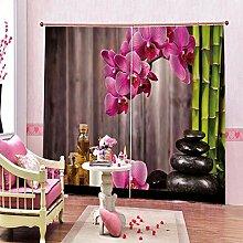 Eteyteay Rideau de Fleur de Bambou en Pierre de