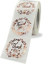 Étiquettes rondes autocollantes de remerciement