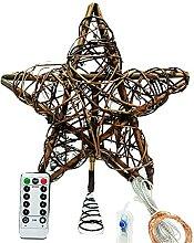 Étoile de Noël lumineuse pour sapin de Noël